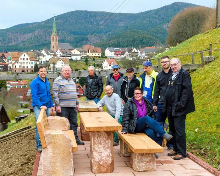 Neue Sitzgruppe Bei Der Ebetmühle