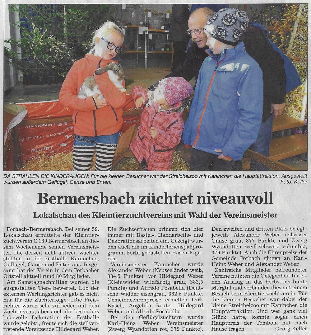Bermersbach Züchtet Niveauvoll